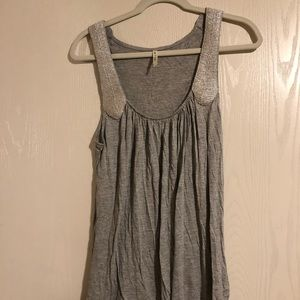 Gray and silver Miami tank top
